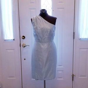 RSVP Elegant Mint Green One-shoulder Dress 14